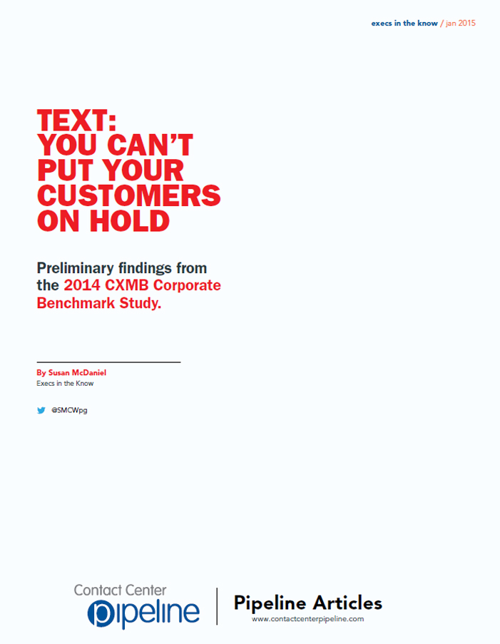 Text: You Can't Put Your Customers On Hold