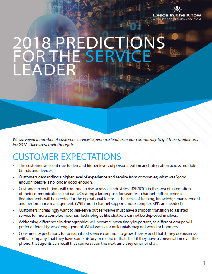 2018 Predictions for the Service Leader