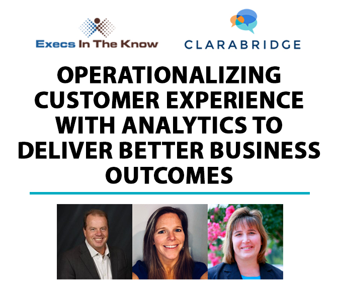 Operationalizing Customer Experience with Analytics to Deliver Better Business Outcomes